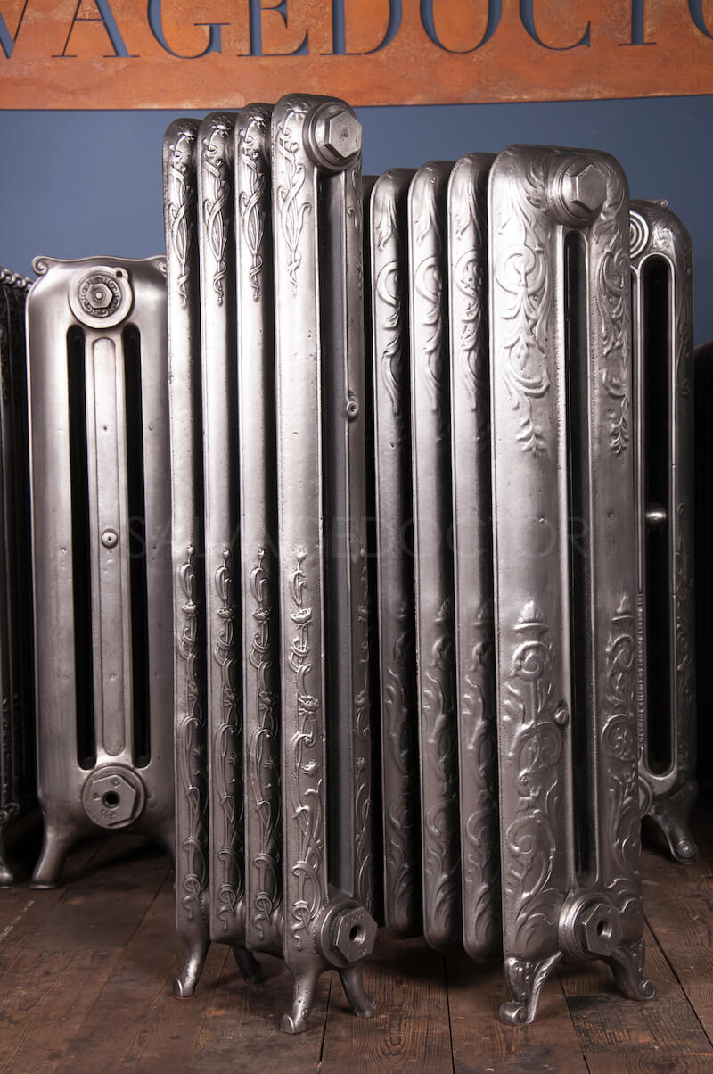 Double Column Art Nouveau Cast Iron Radiator 945mm High