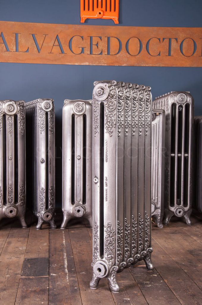 Beeston Single Column Decorated Cast Iron Radiator 925mm High