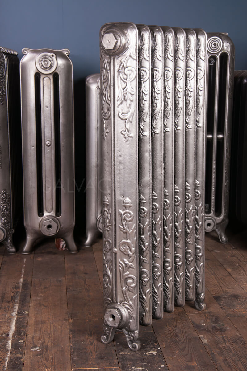 Single Column Art Nouveau Cast Iron Radiator 955mm High
