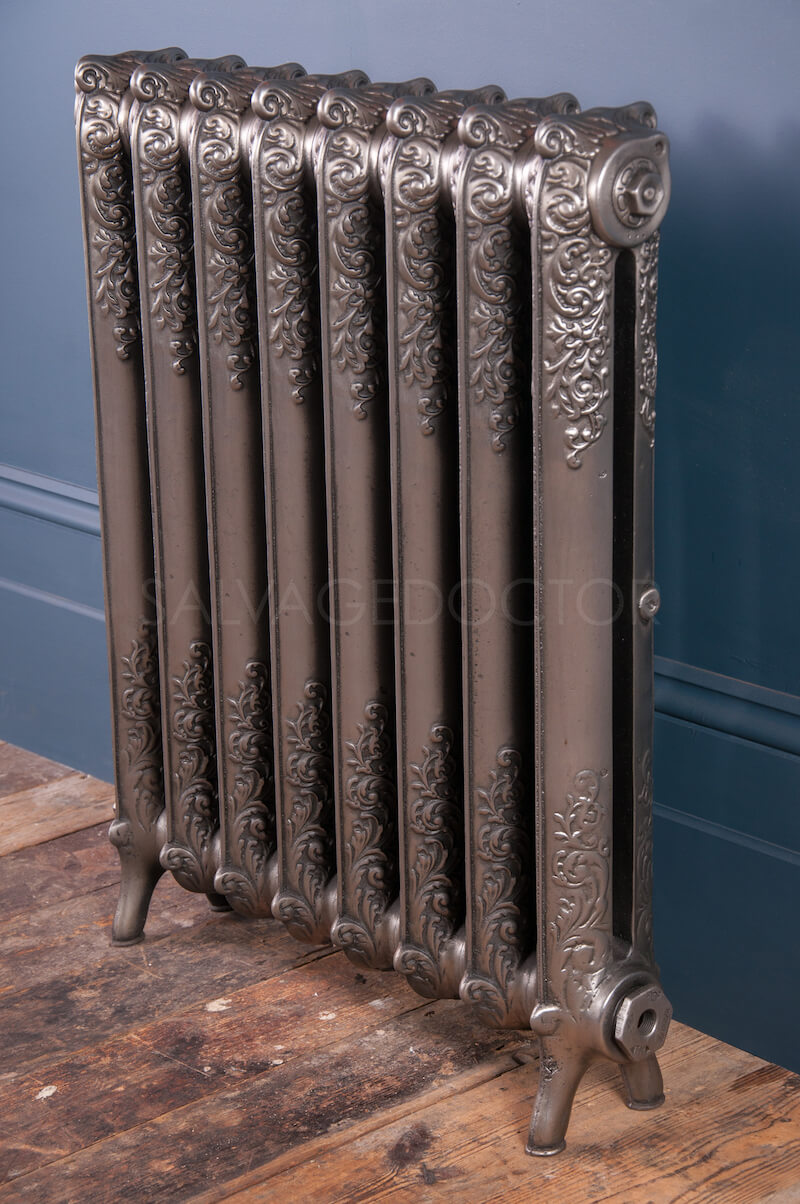 Single Column Beeston Decorated Cast Iron Radiator 925mm High