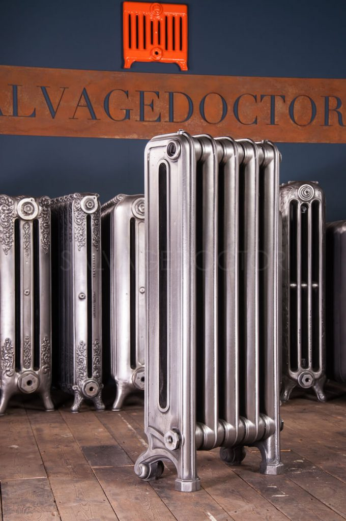 Unknown Double Column Cast Iron Radiator 980mm High