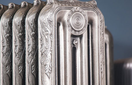 American Radiator Company (ARC) 4 column Ornamental 965mm High & 265mm Deep in Polish