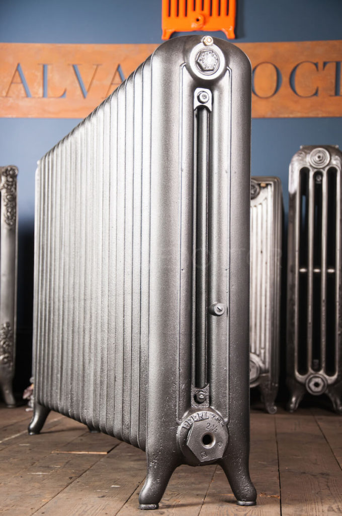 ARC Double Column Tie Bar Cast Iron Radiator 812mm High in Church Burnish