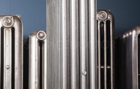 Beeston 4 column Cast Iron Radiator in Church Burnish