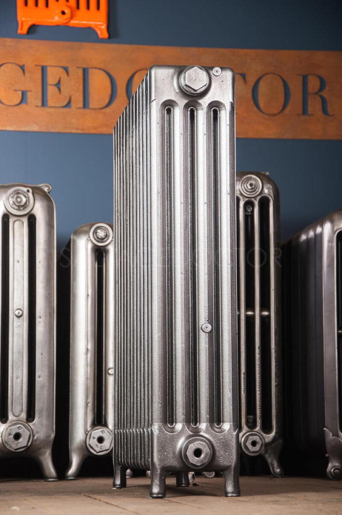 SOLD - Beeston 4 column Cast Iron Radiator in Church Burnish