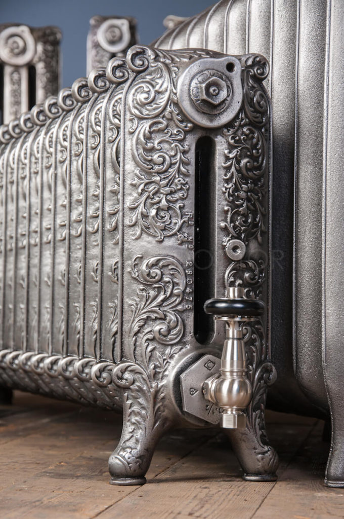 Beeston Double Column Decorated Cast Iron Radiator 450mm High in Polish
