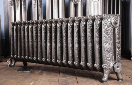 Beeston Double Column Decorated Cast Iron Radiator 450mm High & 190mm Deep in Polish