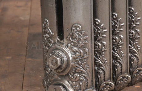 Beeston Double Column Decorated Cast Iron Radiator 965mm High & 190mm Deep in Polish