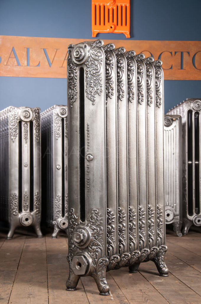 Beeston Double Column Decorated Cast Iron Radiator 990mm High in Polish
