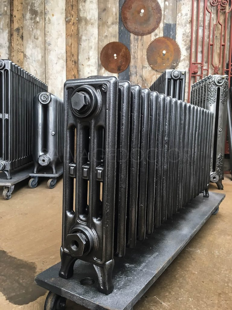 "Corto Four Column Cast Iron Radiator 18"" High"