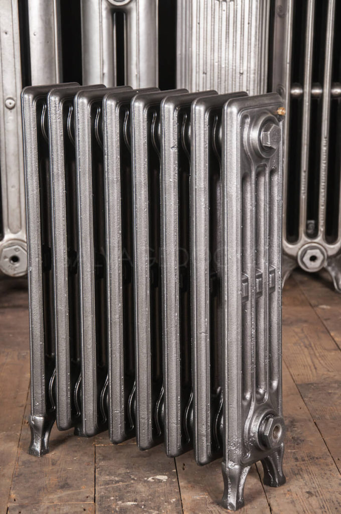 Corto Four Column Cast Iron Radiator 610mm High in Church Burnish
