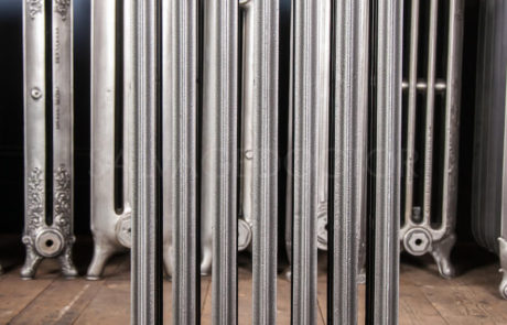 Crane 4 column Cast Iron Radiator 760mm High & 140mm Deep in Church Burnish