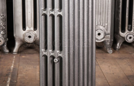 Crane 4 column Cast Iron Radiator 760mm High & 140mm Deep in Church Burnish