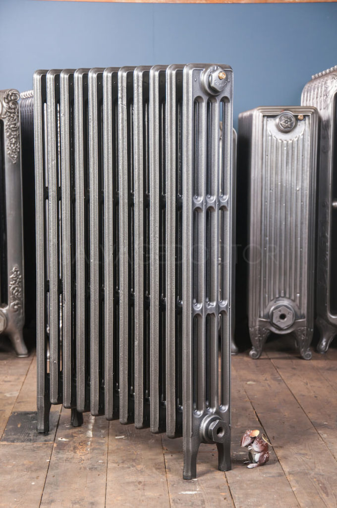 Crane 4 column Cast Iron Radiator 925mm High in Church Burnish