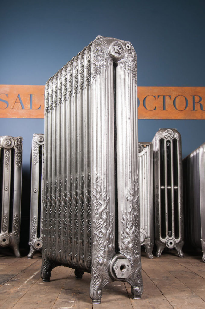 Decorative Cast Iron Radiator (maker unknown) 985mm High in Polish