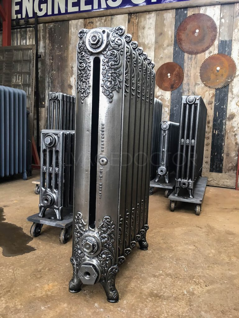 Double Column Beeston Decorated Cast Iron Radiator 965mm High