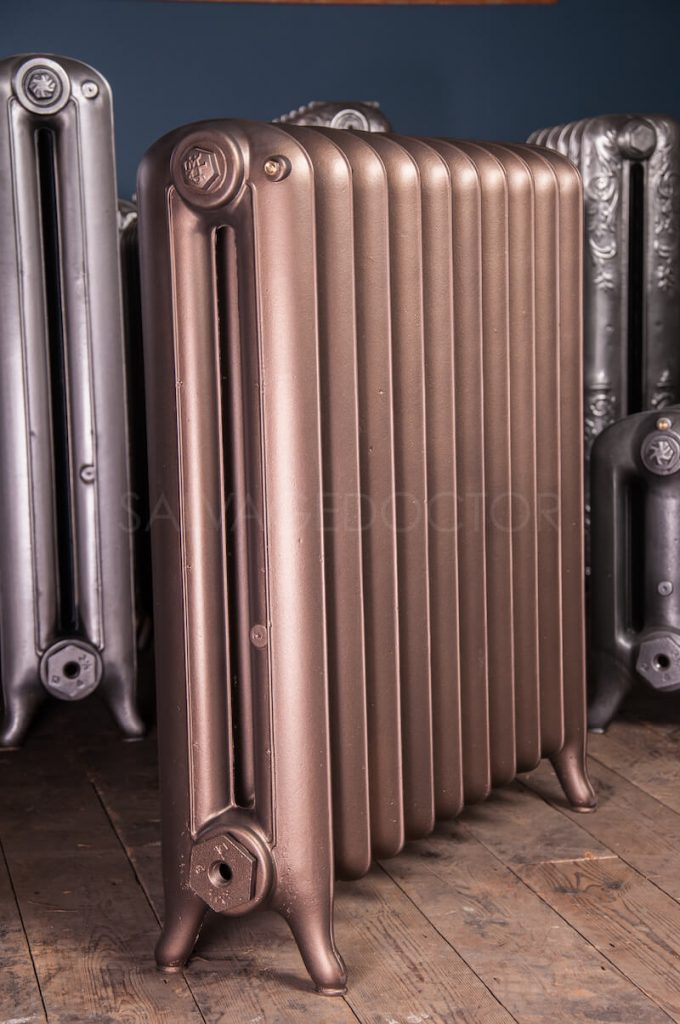 National Radiator Company (NRC) Double Column Princess Cast Iron Radiator 190mm Deep & 810mm High in Bronze