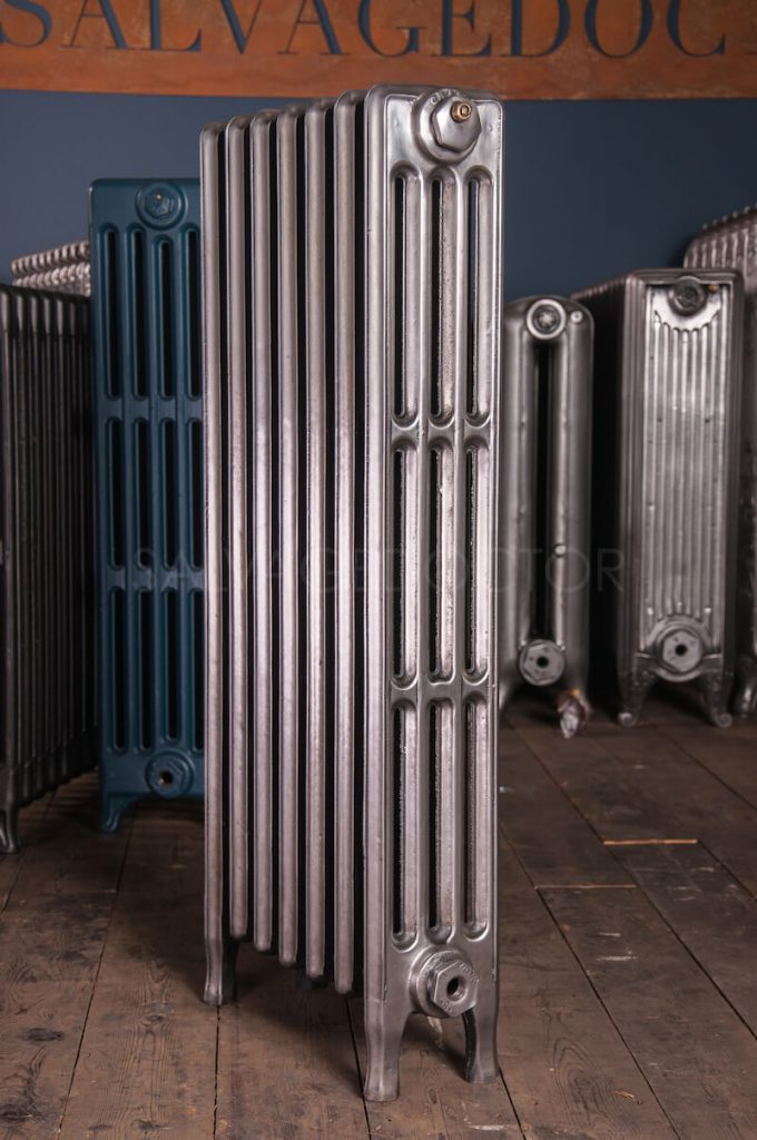 Crane 4 column Cast Iron Radiator 925mm High in Polish