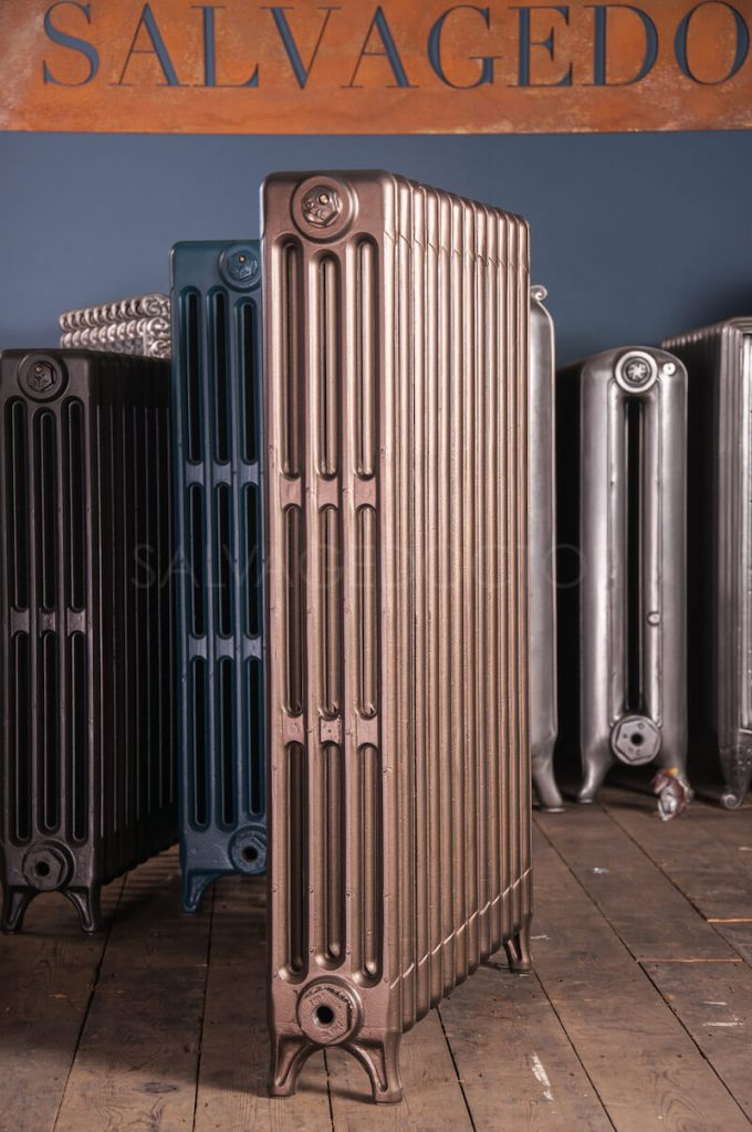 Ideal Standard 4 Column Cast Iron Radiator 925mm High in Bronze