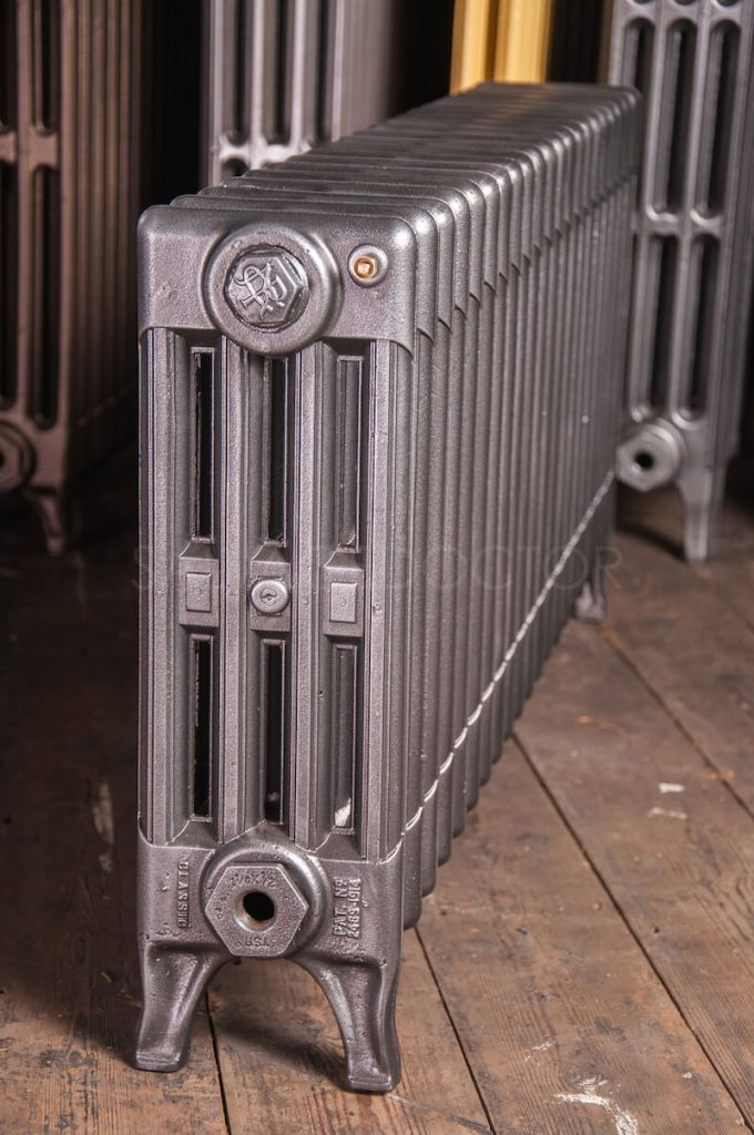 NRC 4 Column Cast Iron Radiator 450mm High in Old Gun