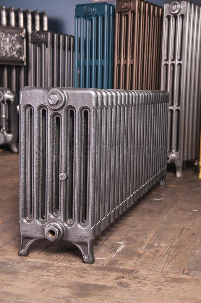 6 Column Ideal Standard 450mm High Cast Iron Radiator in Church Burnish