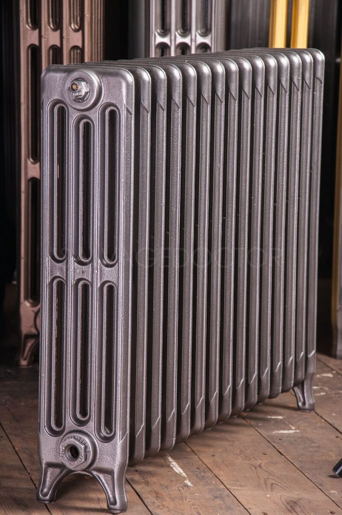 Ideal Standard 4 Column Cast Iron Radiator 610mm High in Old Gun