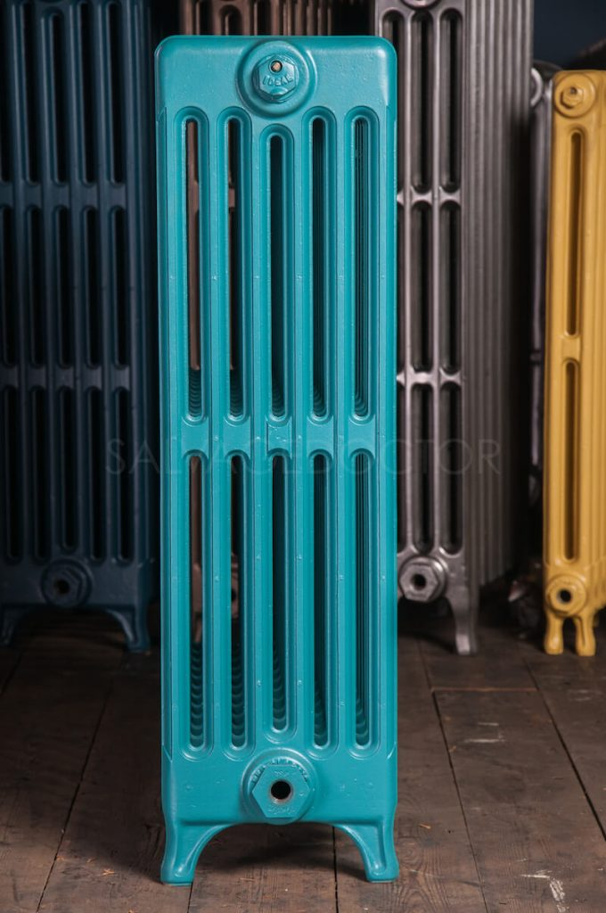 6 Column Neo Classic Cast Iron Radiator 760mm High in Farrow & Ball Vardo