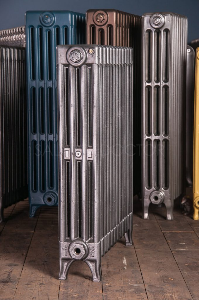 NRC Neo Classic 4 Column Cast Iron Radiator 760mm High in Church Burnish
