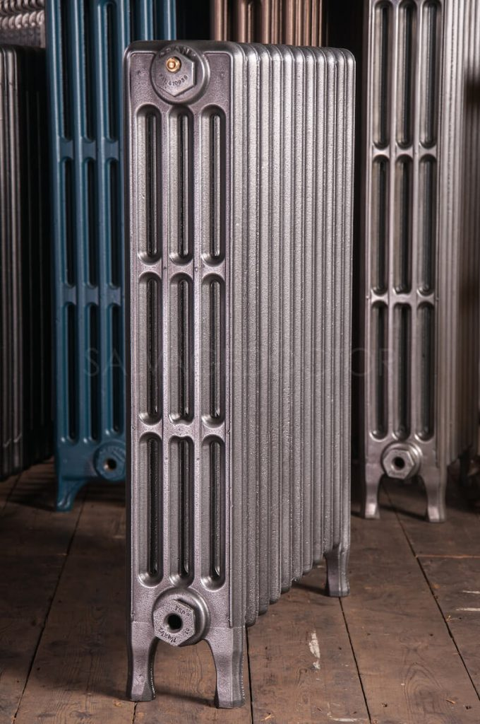 Crane 4 Column Cast Iron Radiator 760mm High in Church Burnish