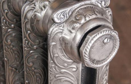 NRC Single Column Ornamental Cast Iron Radiator 812mm High & 145mm Deep in Polish