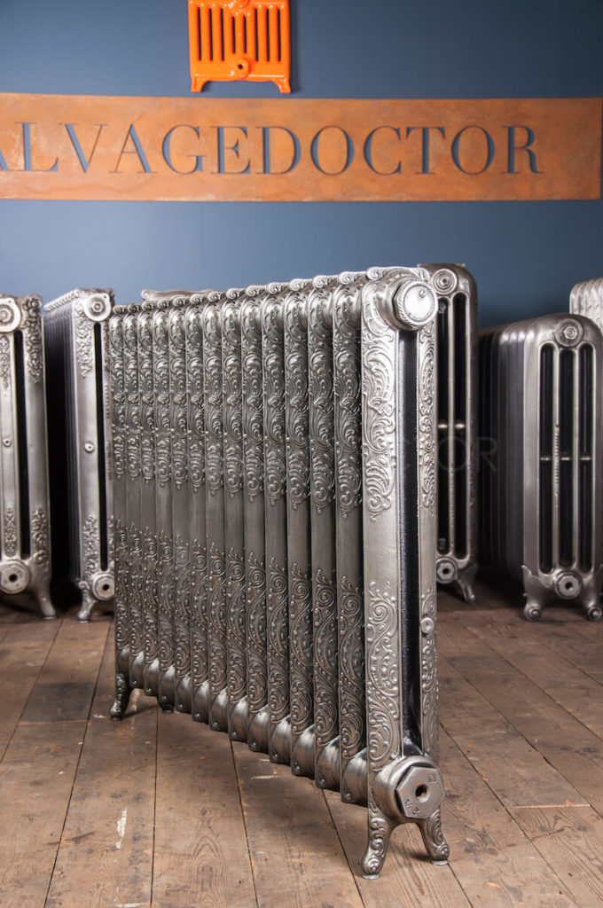 NRC Single Column Ornamental Cast Iron Radiator 812mm High in Polish