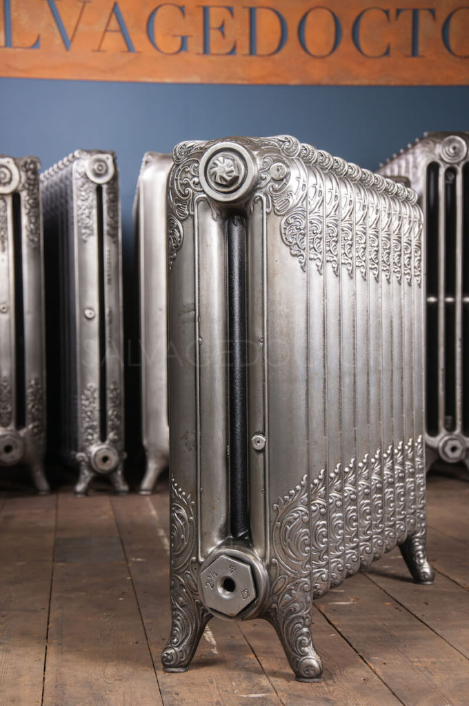 NRC National Radiator Company Double Column Ornamental Cast Iron Radiator 660mm High & 190mm Deep in Polish