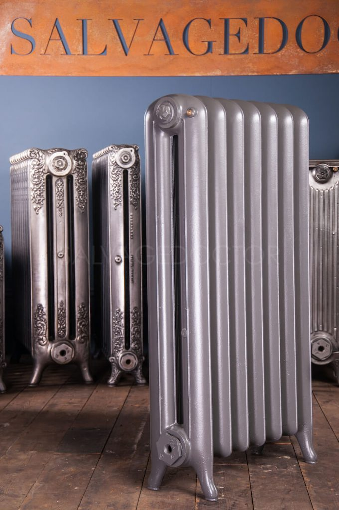 National Radiator Company (NRC) Double Column Princess Cast Iron Radiator 190mm Deep & 965mm High in RAL7045 Telegrey