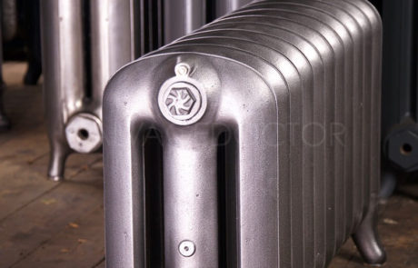 NRC Three Column Princess Cast Iron Radiator in Old Gun 450mm High & 250mm Deep