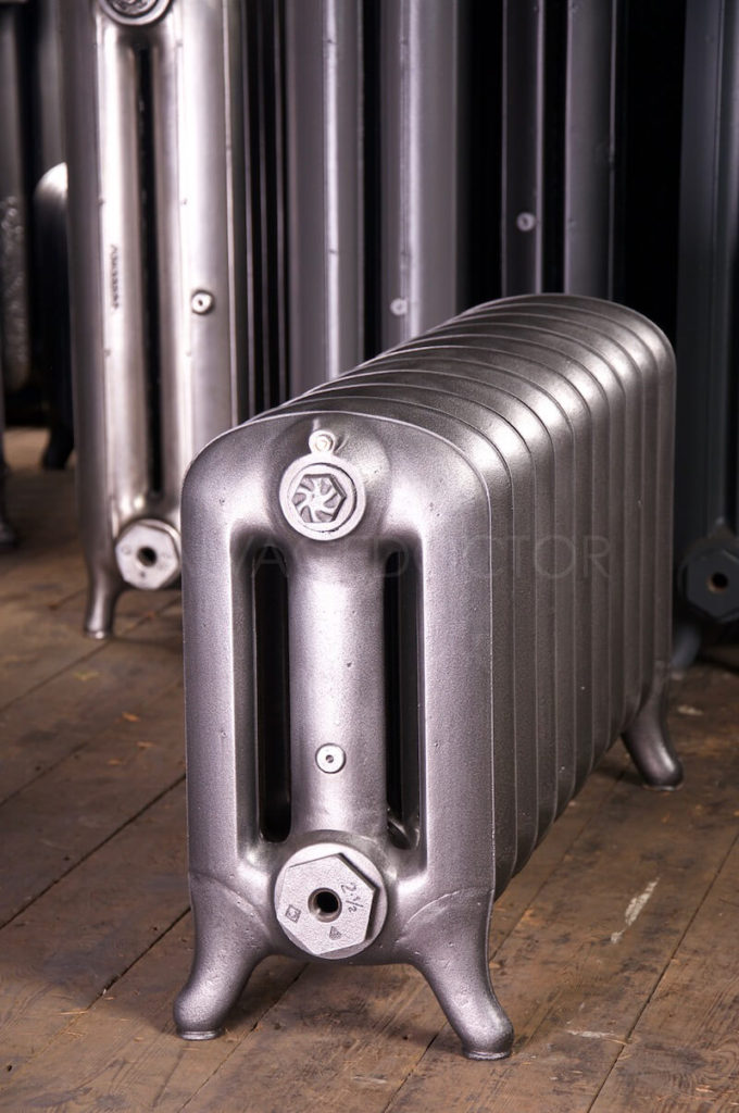 NRC Three Column Princess Cast Iron Radiator 450mm High & 250mm Deep in Old Gun