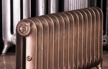 Beeston Single Column Duchess cast iron radiator 450mm high in Bronze