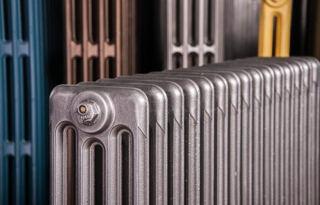 Ideal Standard 4 Column cast iron radiator 610mm high in Old Gun