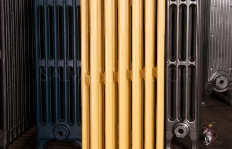 Ideal Standard 2 Column Cast Iron Radiator 760mm High in Farrow & Ball Yellow Ground