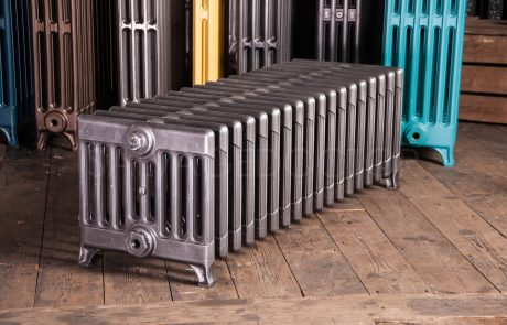Ideal Standard 9 Column Cast Iron Radiator Window Radiator 300mm High in Old Gun