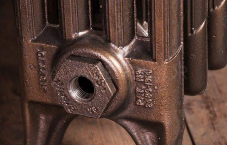NRC 4 Column Cast Iron Radiator 610mm High in Burnished Bronze