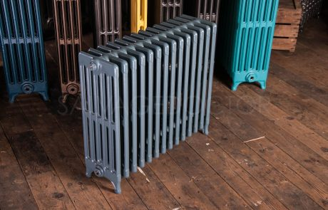 6 Column Neo Classic Cast iron Radiator 610mm High in Farrow and Ball Stiffkey Blue No. 281