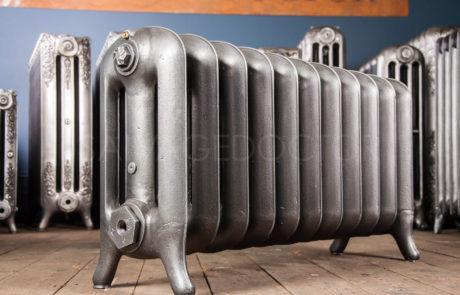 NRC Three Column Princess Cast Iron Radiator in Old Gun 450mm High & 250mm Deep