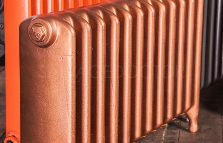 Ideal Standard Medium (145mm deep) School Cast Iron Radiator 450mm High in Fire Copper