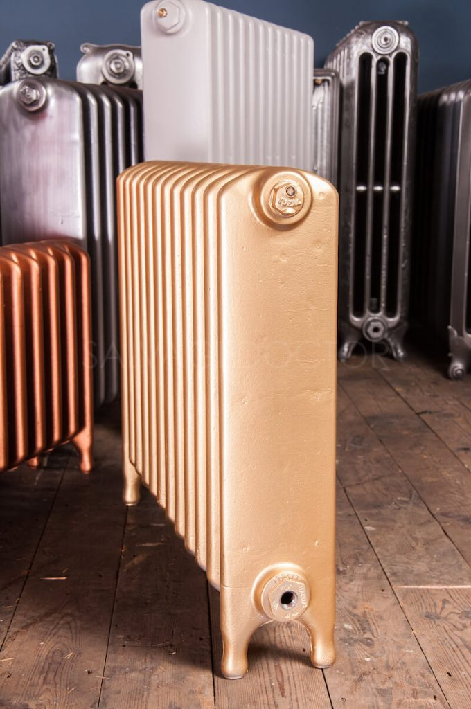 Ideal Standard Medium (145mm deep) School Cast Iron Radiator 610mm High in Pale Gold