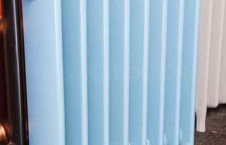 Ideal Standard Medium (145mm deep) School Hospital Cast Iron Radiator 610mm High in Sky Blue