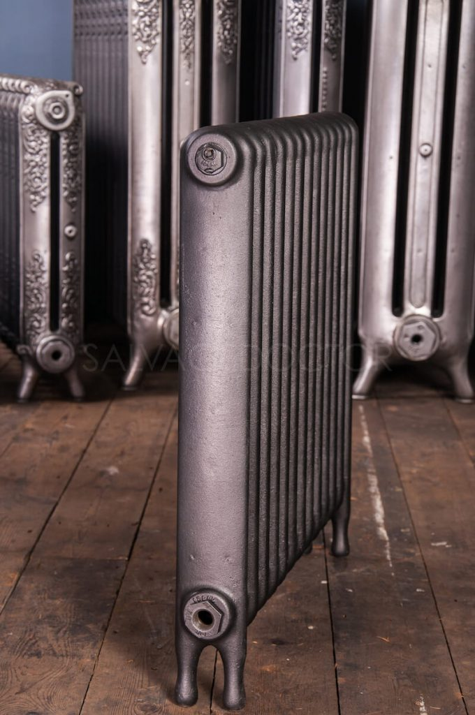 Ideal Standard Narrow (75mm deep) School Cast Iron Radiator 610mm High in Anthracite