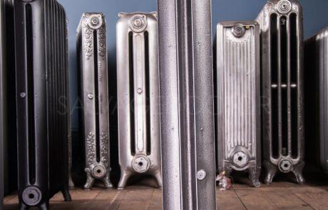 NRC Single Column Duchess Cast Iron Radiator 140mm Deep & 810mm High in Church Burnish