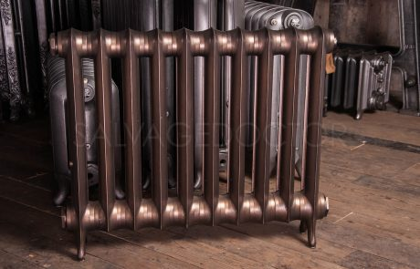National Radiator Company (NRC) Single Column Duchess Cast Iron Radiator 140mm Deep & 660mm High in Burnished Bronze